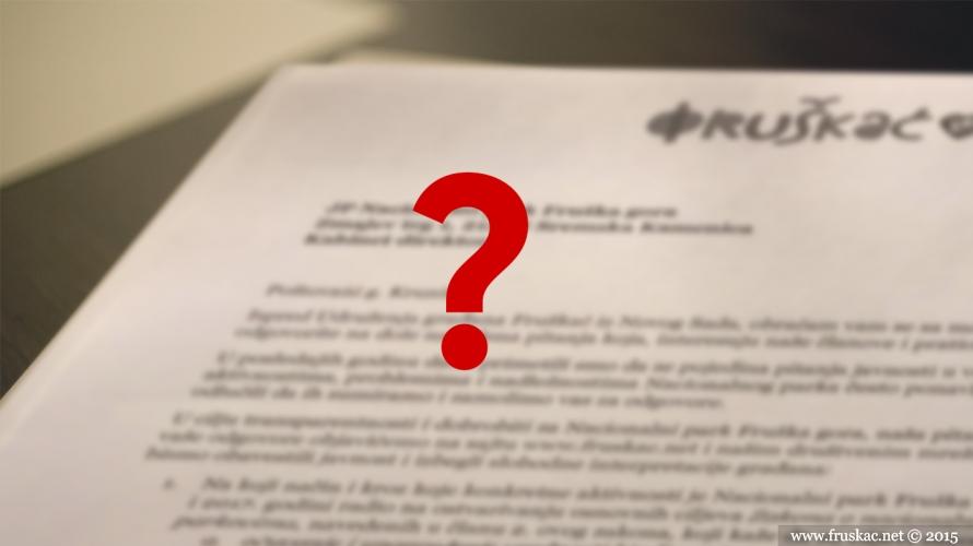 News - Postavili smo direktoru NP Fruška gora par nezgodnih pitanja!