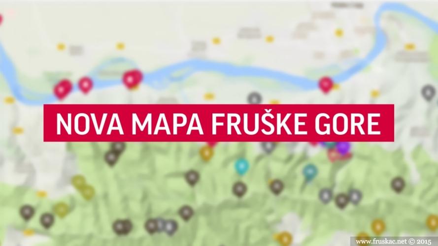 News - Nova mapa Fruške gore