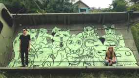 First murals painted on Fruška gora